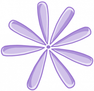 Drawing of a purple flower